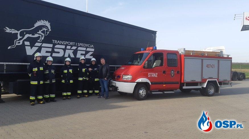 Serdeczne podziękowania dla firmy Veskez Transport i Spedycja. OSP Ochotnicza Straż Pożarna