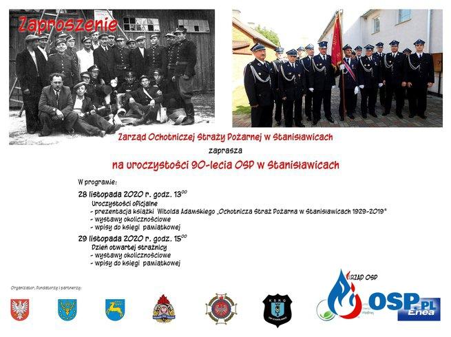 Obchody 90-lecia Ochotniczej Straży Pożarnej w Stanisławicach. OSP Ochotnicza Straż Pożarna