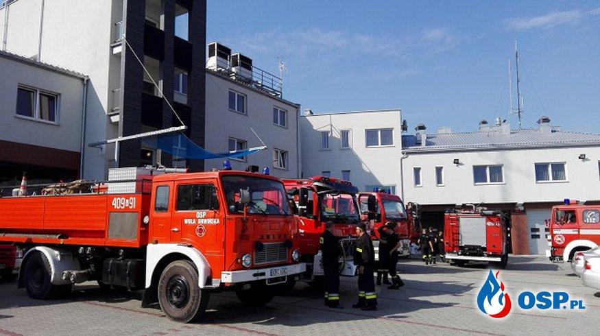 ćwiczenia w kompleksie Puszczy Niepołomickiej OSP Ochotnicza Straż Pożarna