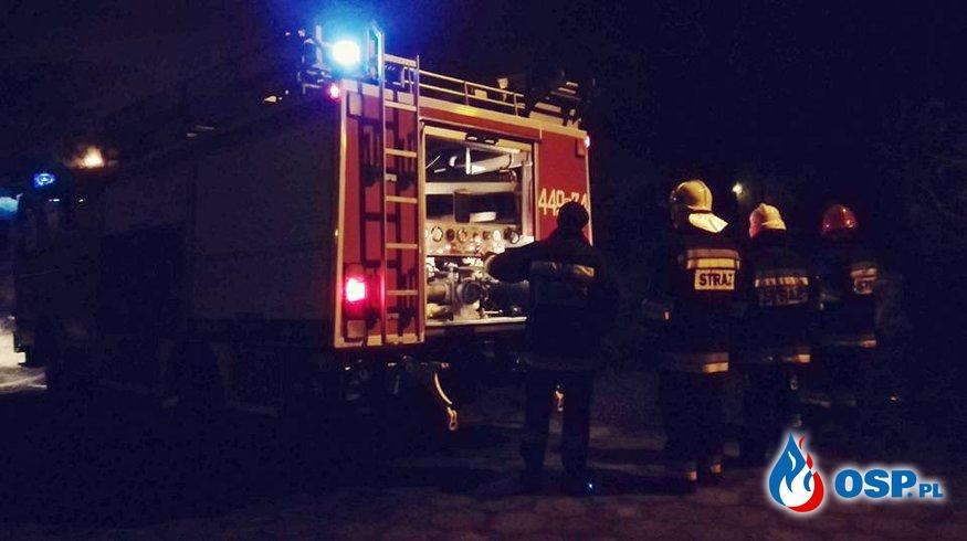 Pożar drzewa. Cerkwica 31.12.2016r. OSP Ochotnicza Straż Pożarna