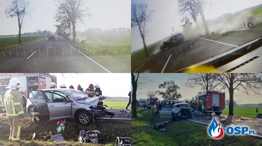 Tak doszło do tragicznego wypadku. Nagranie z wideorejestratora! OSP Ochotnicza Straż Pożarna