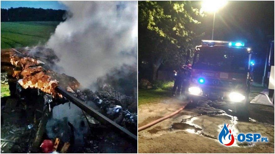Ponad 20 strażaków gasiło nocny pożar stolarni OSP Ochotnicza Straż Pożarna