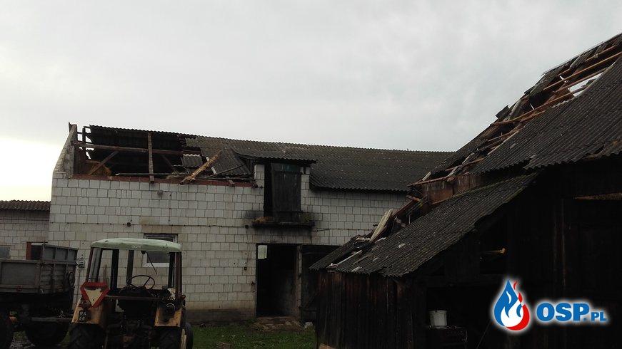 Skutki gwałtownej burzy OSP Ochotnicza Straż Pożarna