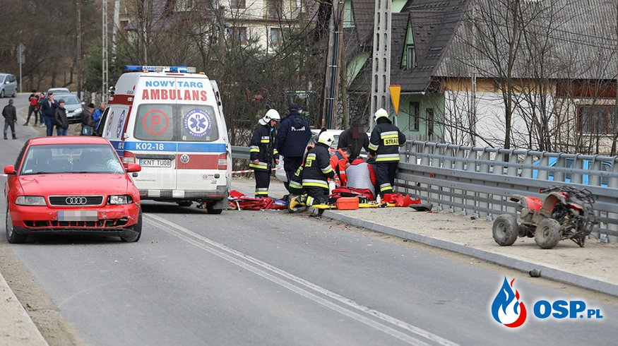 Zmarł 9-letni chłopiec, który wjechał quadem w samochód OSP Ochotnicza Straż Pożarna