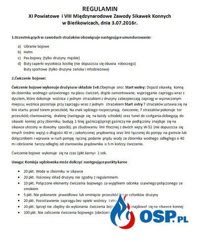 XI Powiatowe i VIII Międzynarodowe Zawody Sikawek Konnych OSP Ochotnicza Straż Pożarna