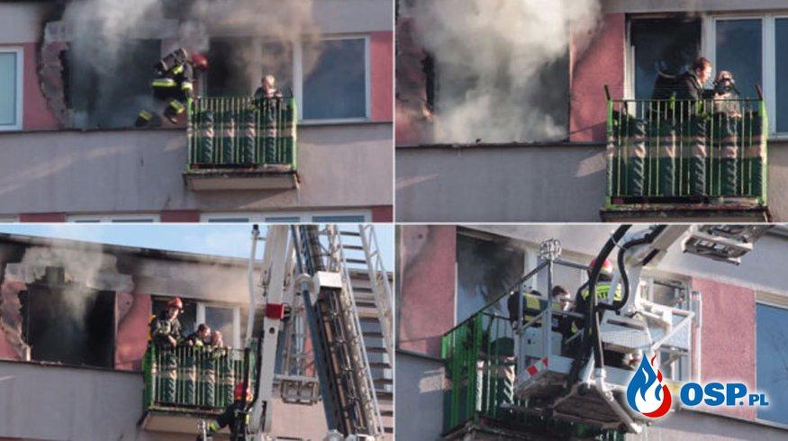 Bohaterska akcja strażaka w Słupcy! Uratował z pożaru 70-letnią kobietę! OSP Ochotnicza Straż Pożarna