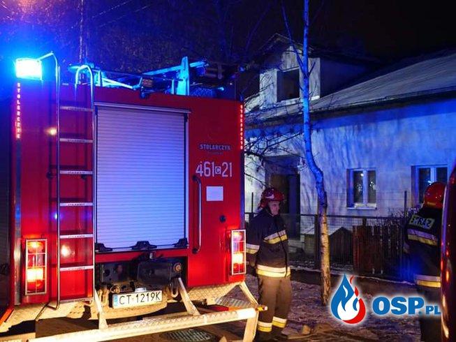 Pożar domku jednorodzinnego OSP Ochotnicza Straż Pożarna
