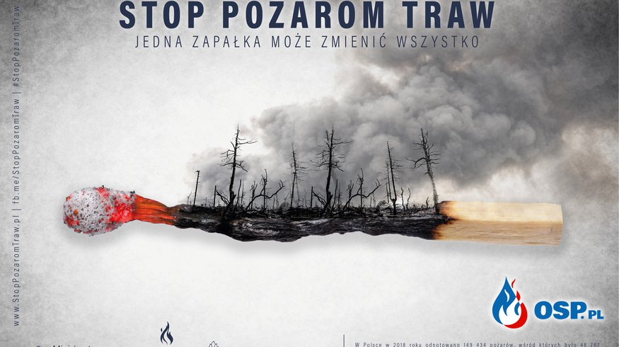 Stop Pożarom Traw! OSP Ochotnicza Straż Pożarna