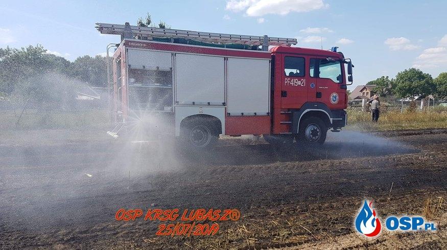 Pożar zboża i ścierniska OSP Ochotnicza Straż Pożarna