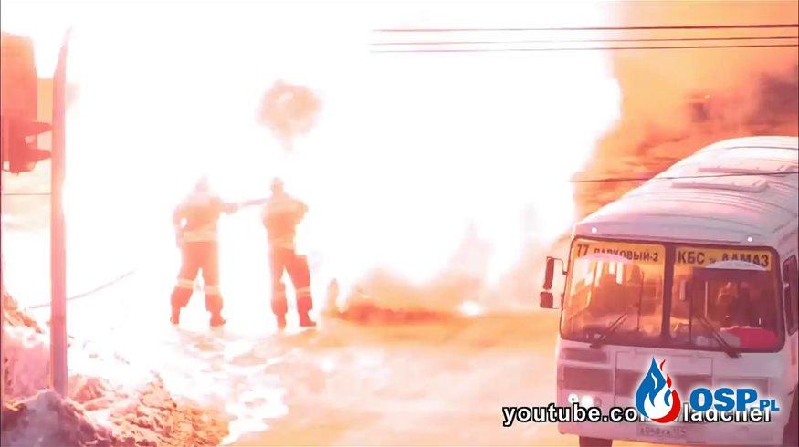 Dlaczego trzeba używać aparatów powietrznych przy gaszeniu pożaru samochodu? OSP Ochotnicza Straż Pożarna
