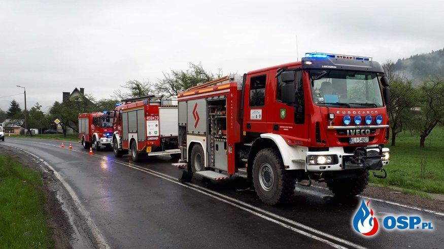 ZDERZENIE TRZECH SAMOCHODÓW OSP Ochotnicza Straż Pożarna