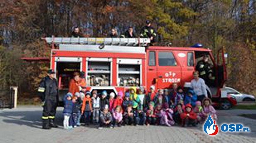 Ćwiczenia-ewakuacja przedszkola OSP Ochotnicza Straż Pożarna
