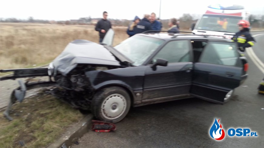 Wypadek na obwodnicy w Trzebiatowie OSP Ochotnicza Straż Pożarna