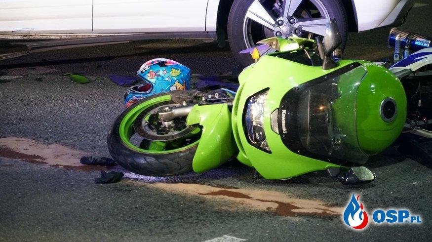 21-latka zginęła w wypadku. Motocyklista nigdy nie miał prawa jazdy. OSP Ochotnicza Straż Pożarna