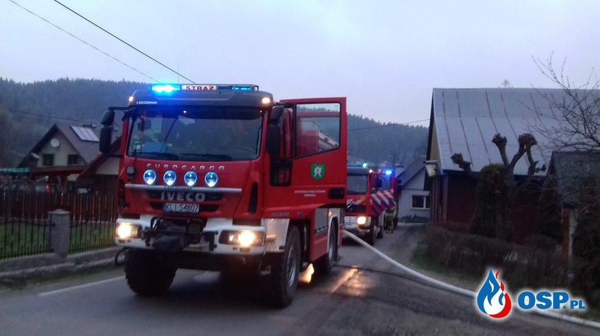 POŻAR W SILOSIE Z TROCINAMI OSP Ochotnicza Straż Pożarna