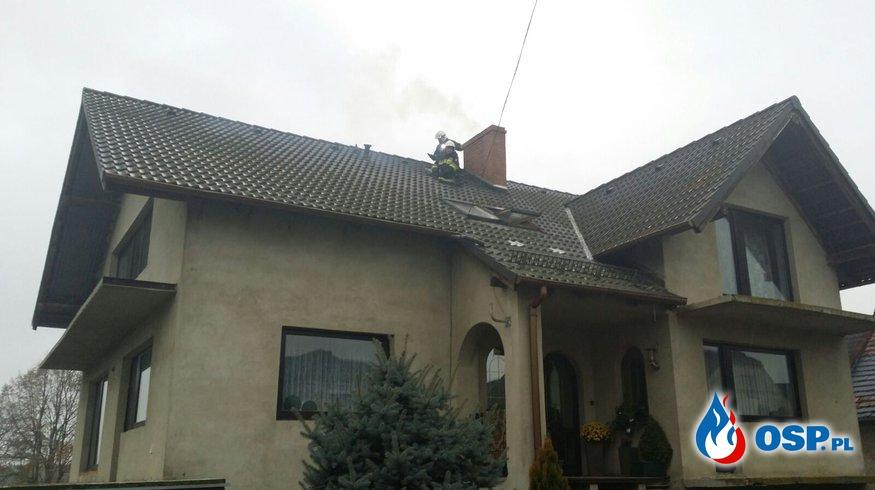 Pożar sadzy w kominie w Wilkowie OSP Ochotnicza Straż Pożarna