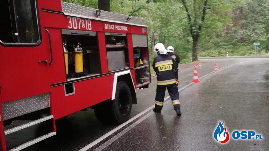 Interwencje po przejściu ulewy w Kup OSP Ochotnicza Straż Pożarna