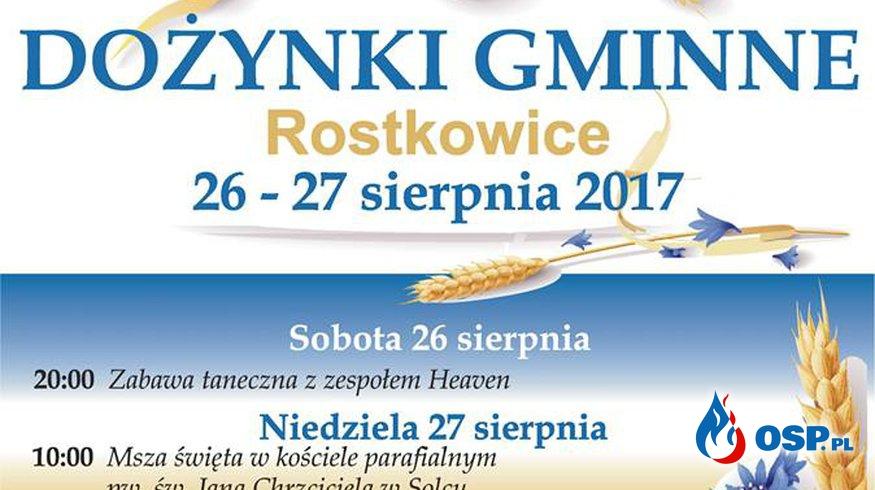 Zabezpieczenie dożynek gminnych w Rostkowicach  OSP Ochotnicza Straż Pożarna