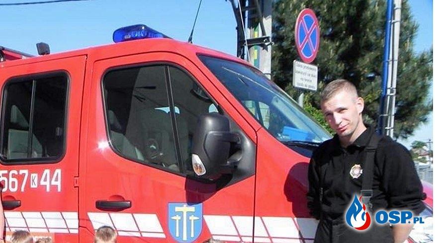 Strażak OSP Wieliczka potrzebuje pomocy po wypadku OSP Ochotnicza Straż Pożarna
