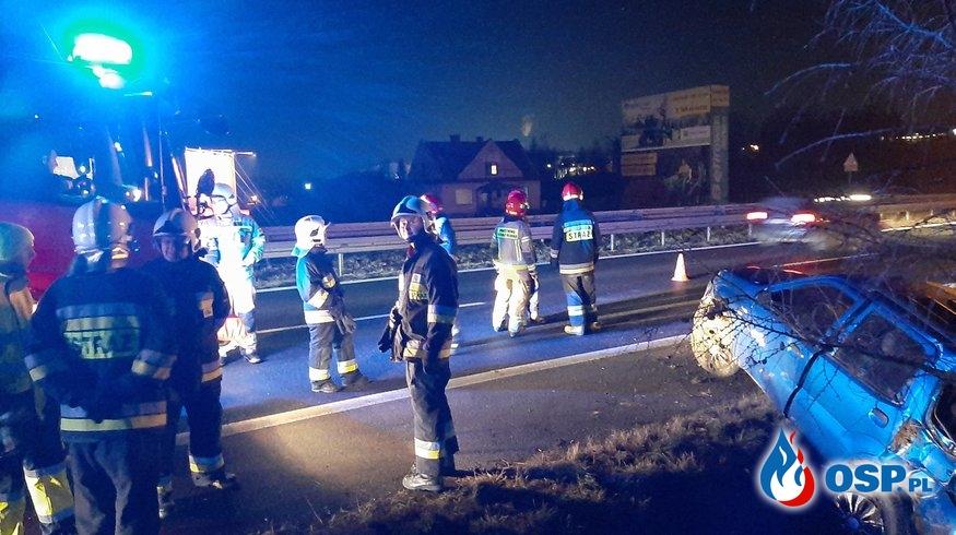 Wypadek samochodu osobowego na DK7 - 27 stycznia 2020r. OSP Ochotnicza Straż Pożarna