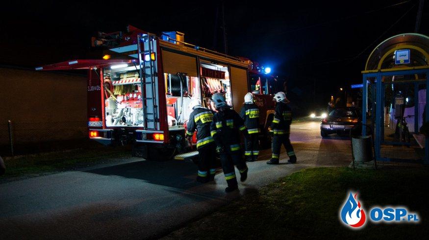 Pucnik – zderzenie autobusu z samochodem osobowym OSP Ochotnicza Straż Pożarna