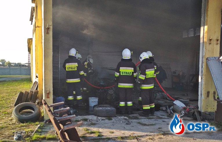 Pożar samochodu - Podbielsko OSP Ochotnicza Straż Pożarna