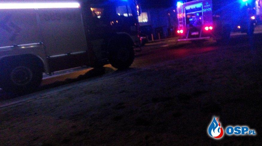 Awaria linii wytwórczej biopaliwa w miejscowości Leśmierz OSP Ochotnicza Straż Pożarna