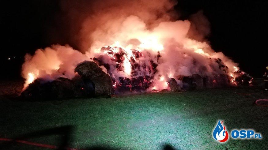 [12/P/2020] Pożar stogu słomy OSP Ochotnicza Straż Pożarna