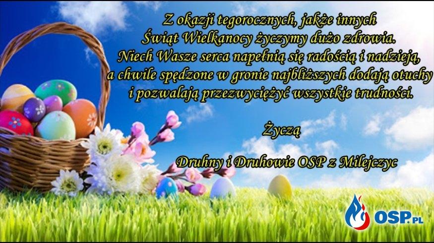 Życzenia Wielkanocne OSP Ochotnicza Straż Pożarna
