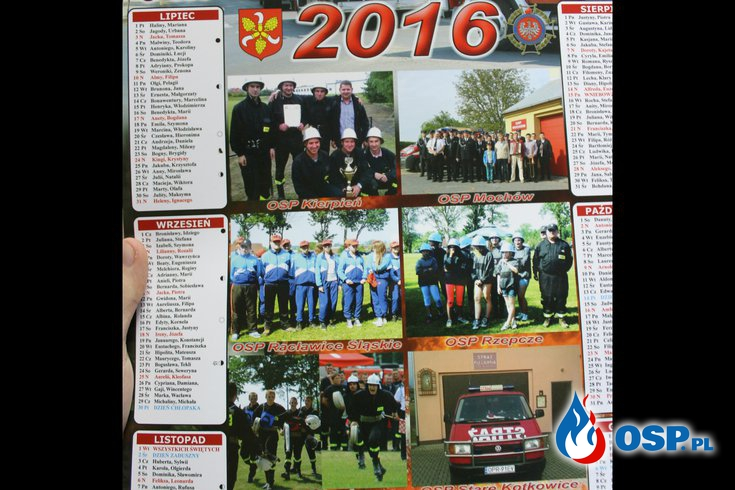 Kalendarze na rok 2016 rozdane! OSP Ochotnicza Straż Pożarna