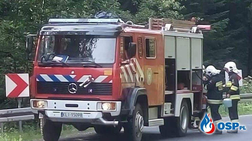 POŻAR SAMOCHODU OSP Ochotnicza Straż Pożarna