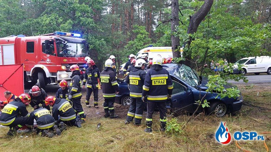 Niebezpiecznie na drodze krajowej nr.48 OSP Ochotnicza Straż Pożarna
