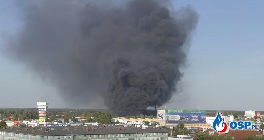 Gigantyczny pożar w Szczecinie. Doszło do eksplozji OSP Ochotnicza Straż Pożarna