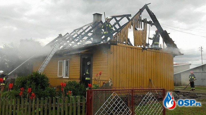 Pożar budynku mieszkalnego w miejscowiści Podole!! OSP Ochotnicza Straż Pożarna