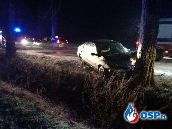 Wypadek drogowy Komorzno OSP Ochotnicza Straż Pożarna