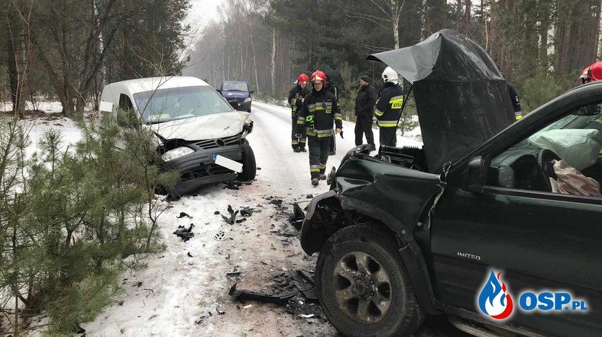 Wypadek drogowy Grabowo-Gołąbki OSP Ochotnicza Straż Pożarna