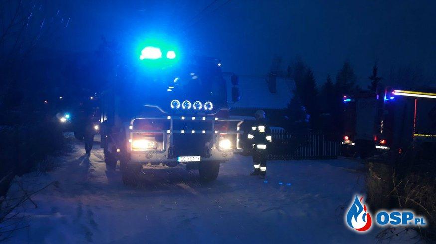 Groźny pożar sadzy w kominie OSP Ochotnicza Straż Pożarna