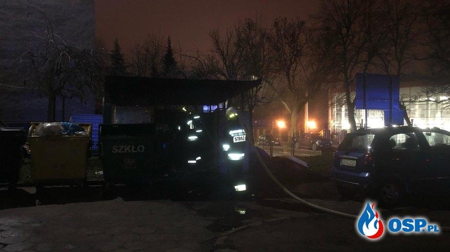 2 pożary śmietników OSP Ochotnicza Straż Pożarna