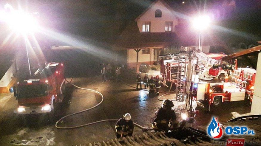 Pożar piekarni w Konopkach OSP Ochotnicza Straż Pożarna