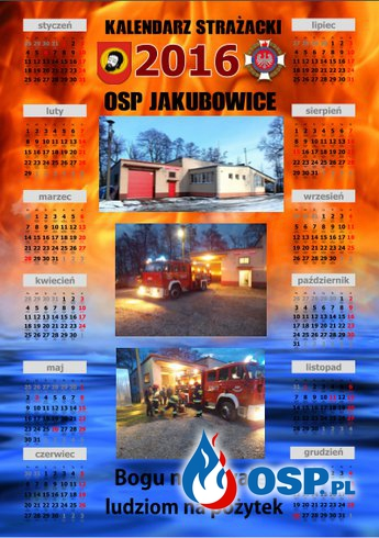 Kalendarz na rok 2016 OSP Ochotnicza Straż Pożarna