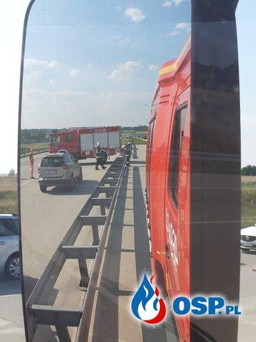 KOLIZJA NA A1 OSP Ochotnicza Straż Pożarna