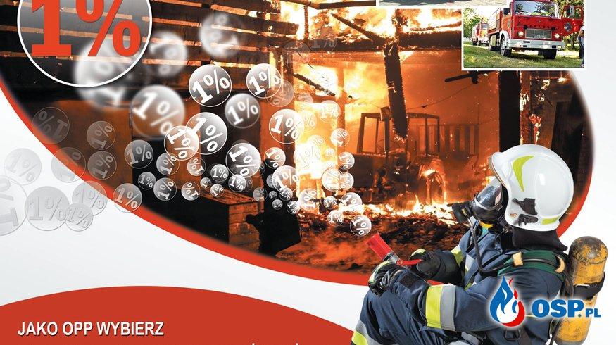Przekaż nam 1% podatku OSP Ochotnicza Straż Pożarna