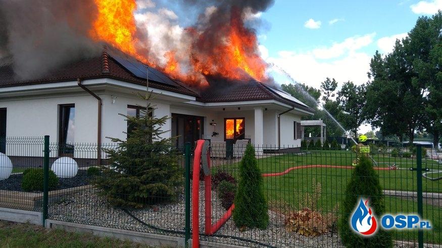Pożar domu jednorodzinnego w Środzie Wlkp. OSP Ochotnicza Straż Pożarna