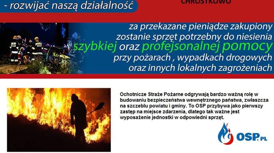 Przekaż 1% na jednostkę! OSP Ochotnicza Straż Pożarna