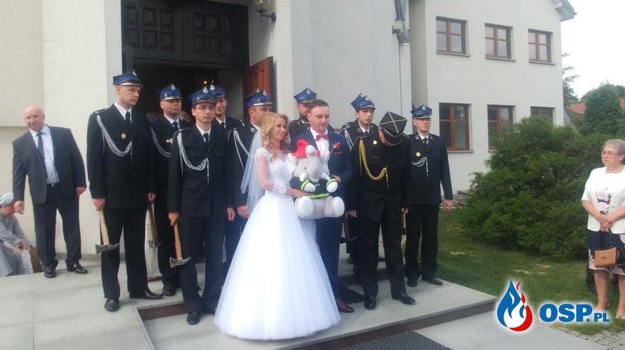 Ślub naszych druhów OSP Ochotnicza Straż Pożarna