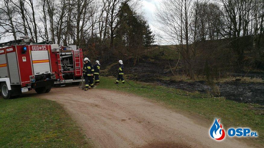 Pożar trawy Marklowice OSP Ochotnicza Straż Pożarna