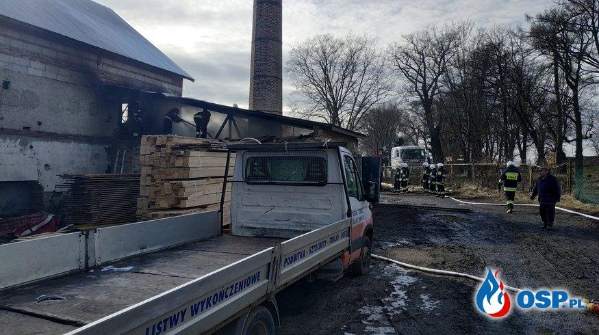 Pożar tartaku OSP Ochotnicza Straż Pożarna