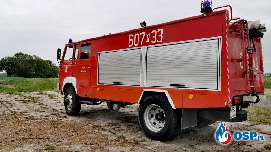 Pożar - wypalanie gałęzi w miejscowości Nochowo. OSP Ochotnicza Straż Pożarna