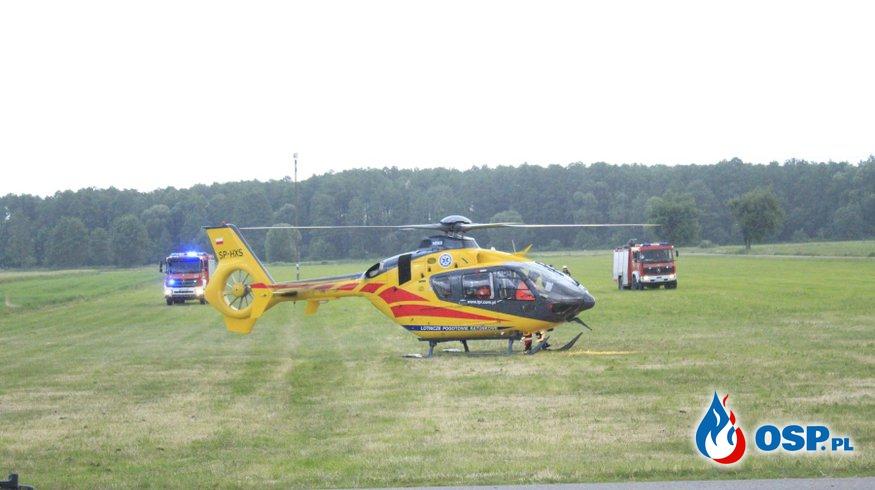 Poważny wypadek motocyklowy OSP Ochotnicza Straż Pożarna