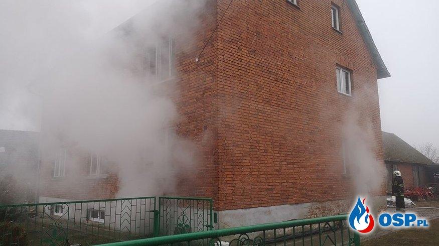 Pożar piwnicy OSP Ochotnicza Straż Pożarna
